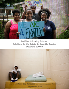 cover of Families Unlocking Futures report